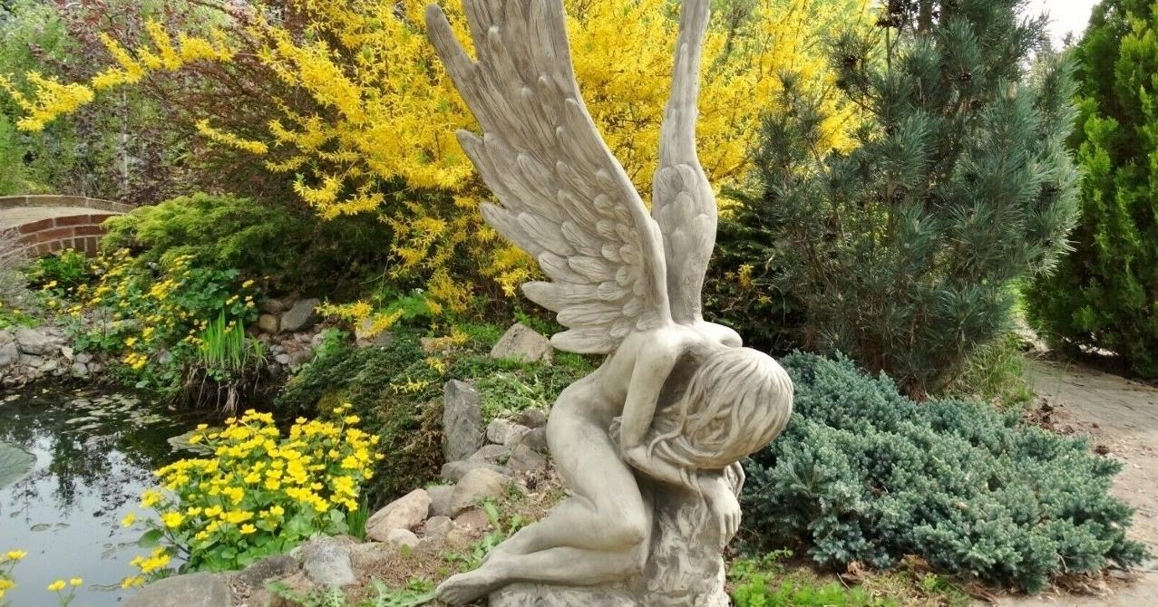Engel Skulpturen Steinguss