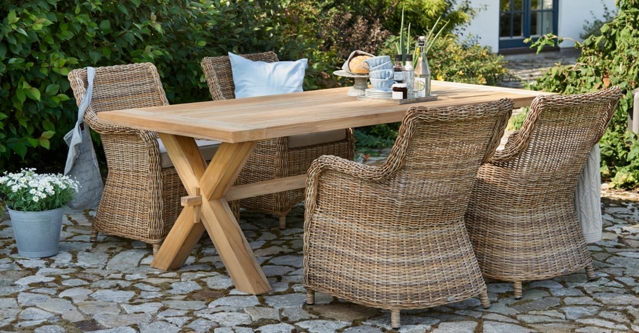 Teak Garten Tischgruppen