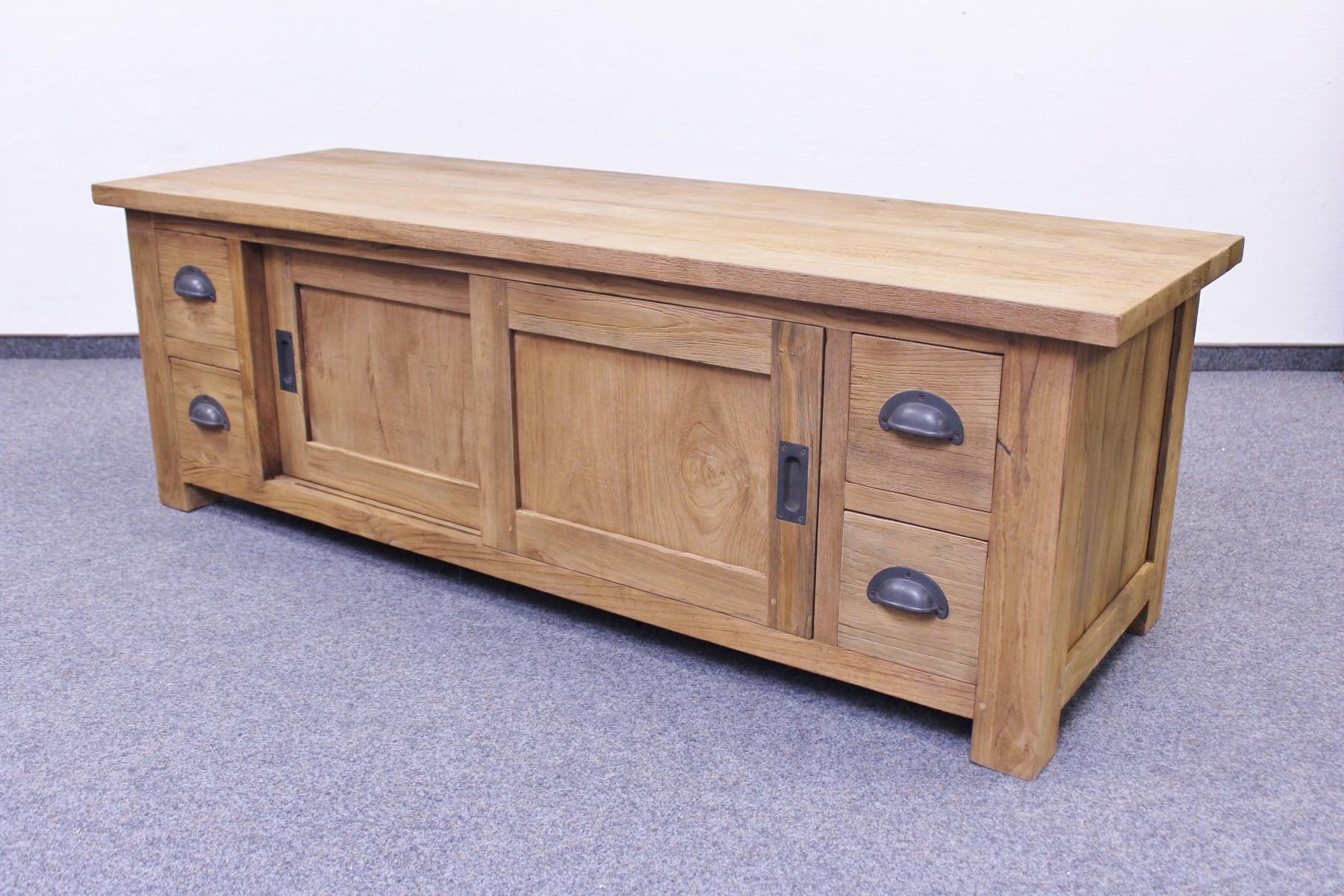 teak tv lowboard se66 3m vollwaren. Black Bedroom Furniture Sets. Home Design Ideas