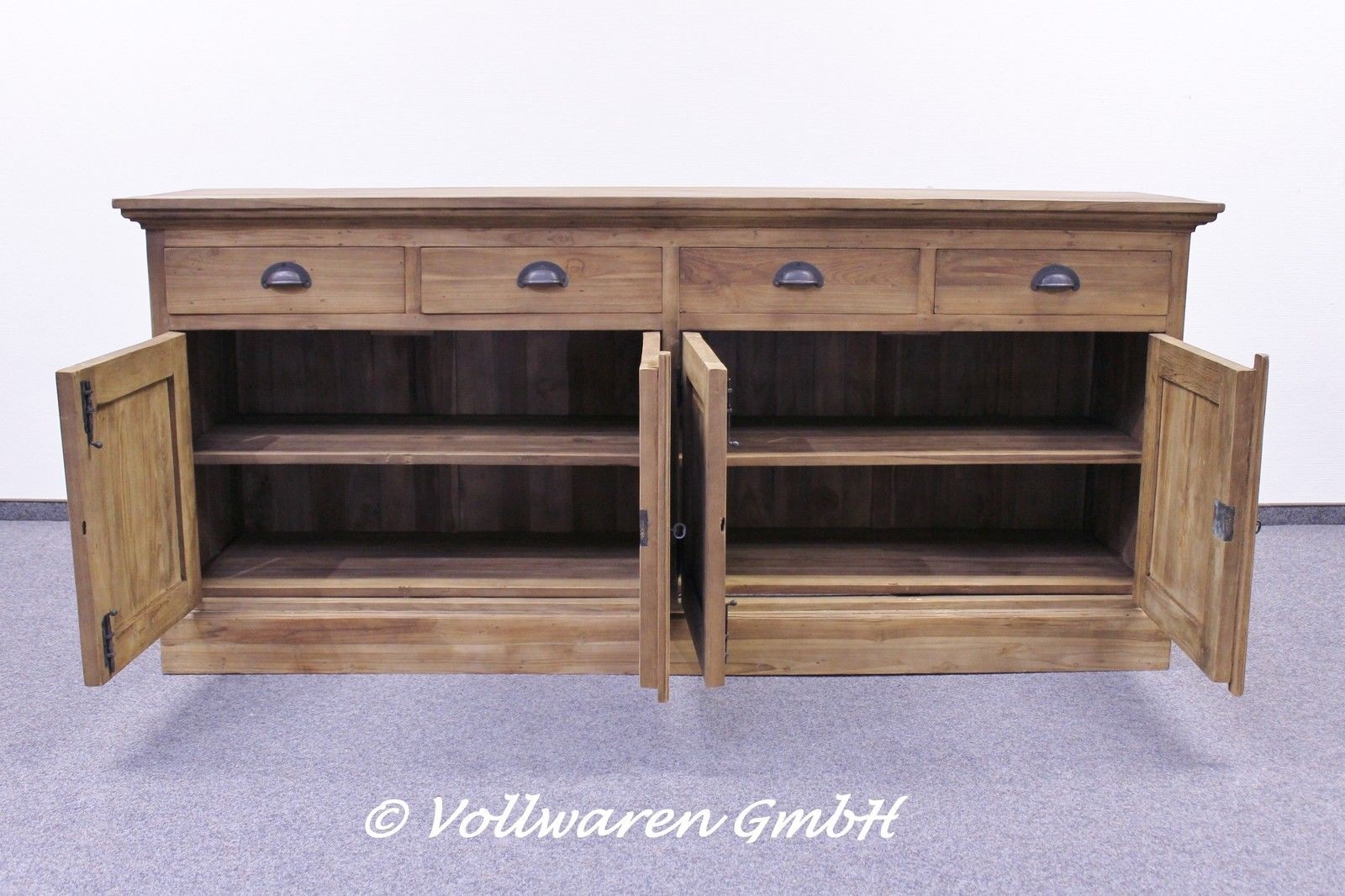 teak sideboard se54 3 4 t ren vollwaren. Black Bedroom Furniture Sets. Home Design Ideas