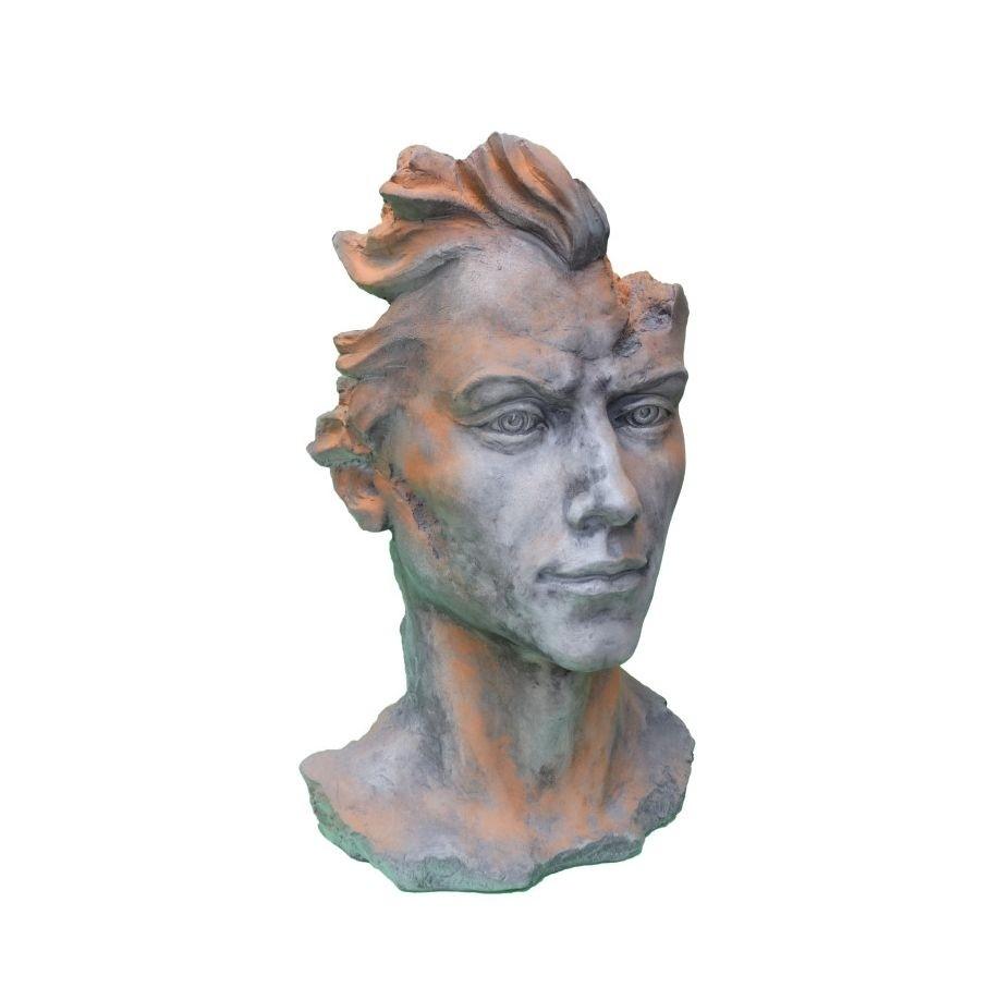 Skulptur Gesicht Mann 2 Rosteffekt