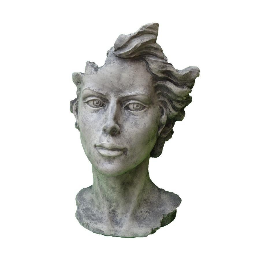 Skulptur Gesicht Frau 2 Steinguss
