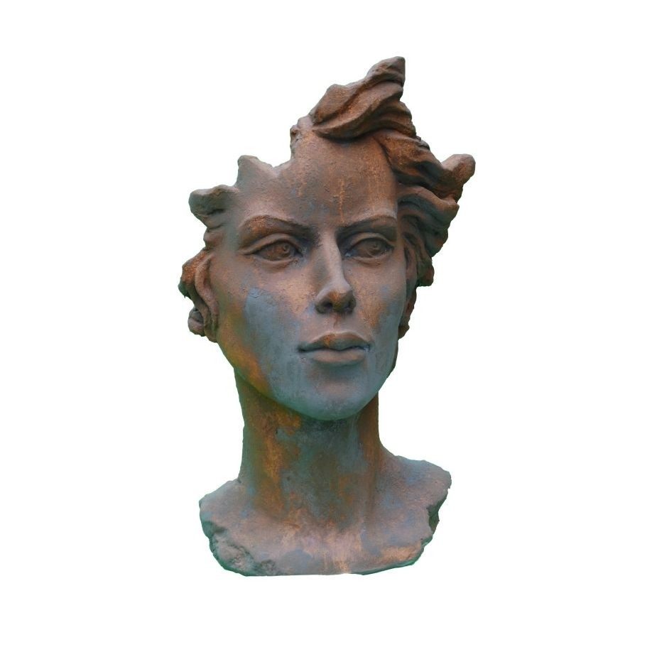 Skulptur Gesicht Frau 2 Rosteffekt
