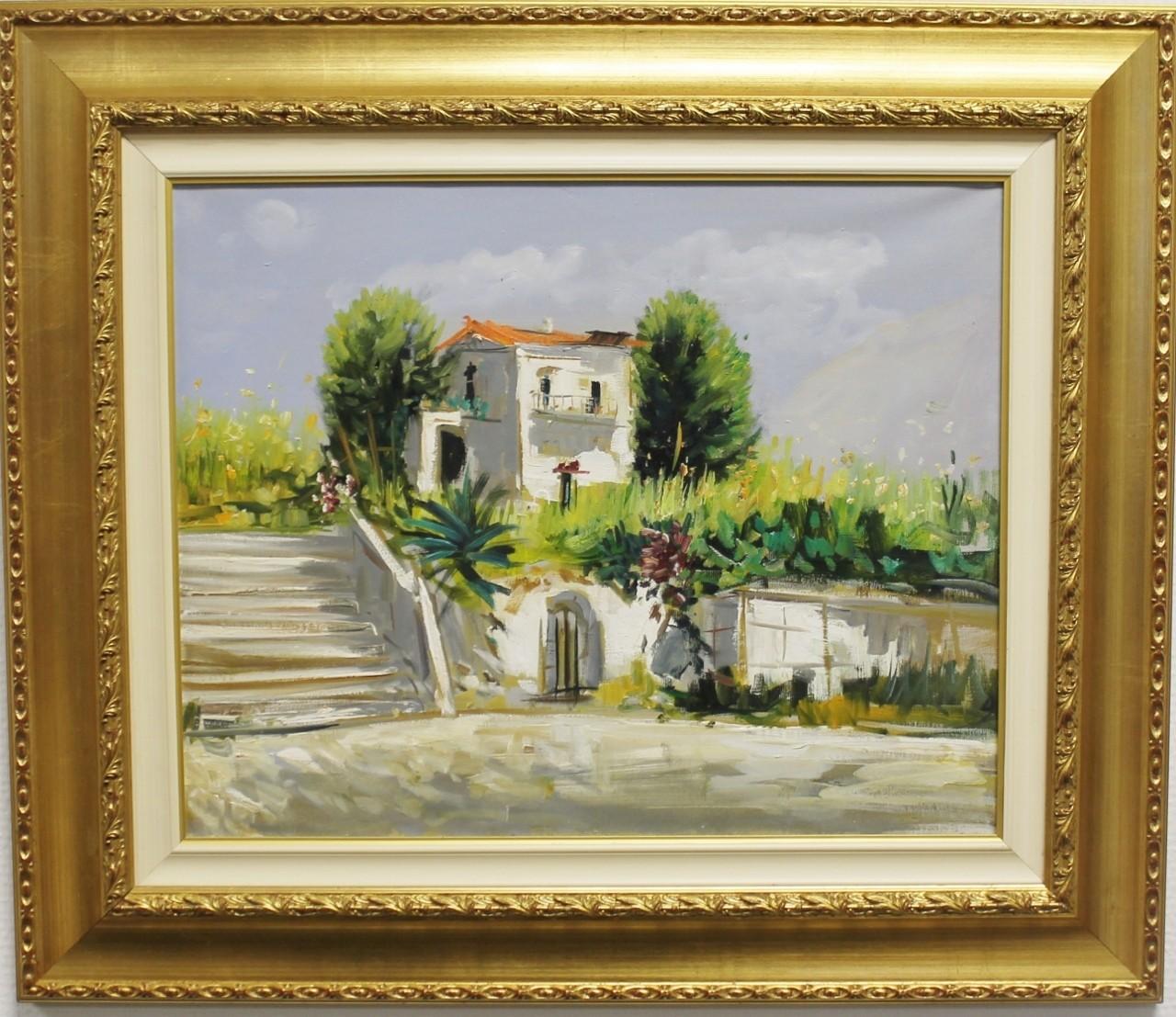 "Original Gemälde ""Haus in der Toskana""  gerahmt"