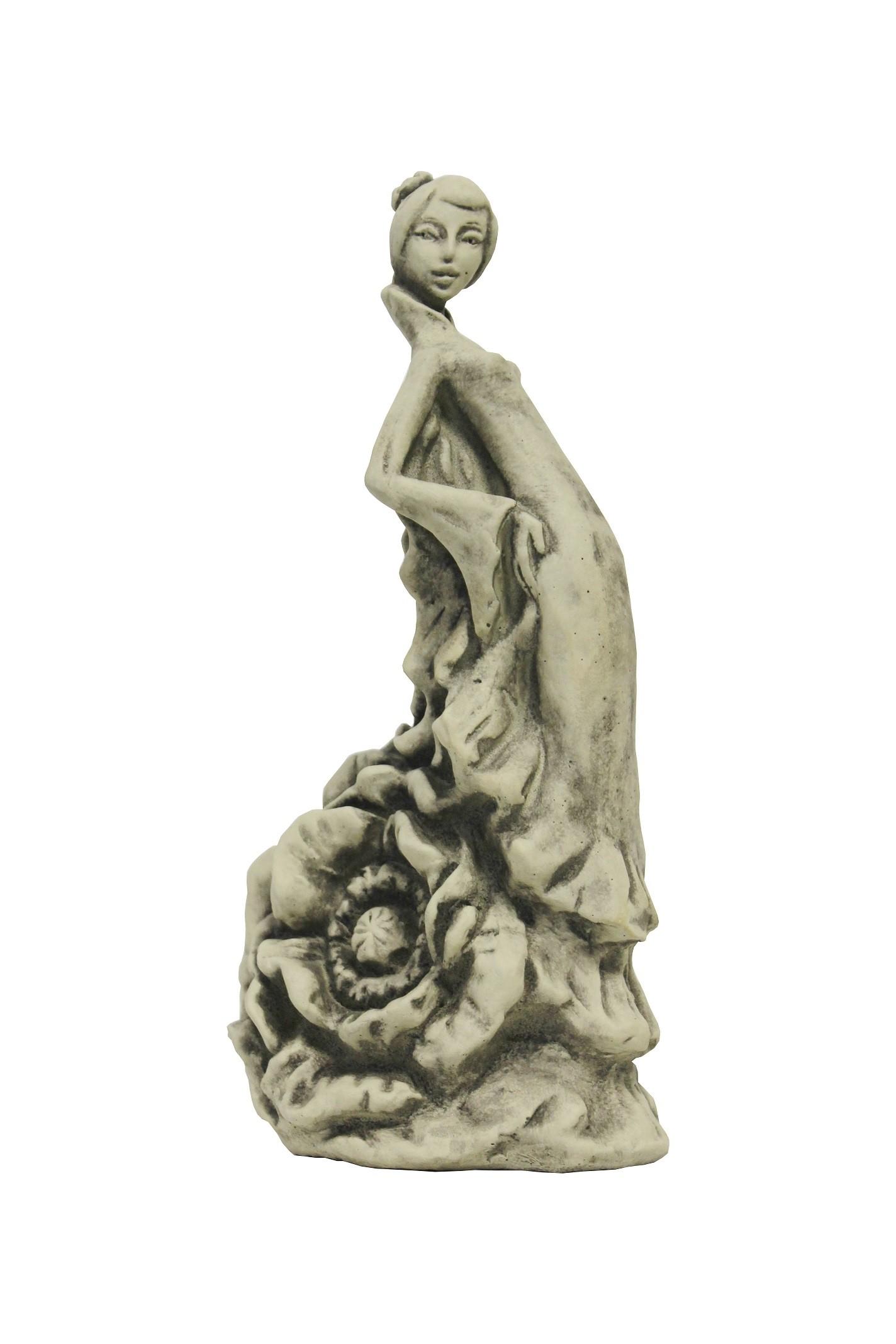 Skulptur Blütentänzerin Mohn