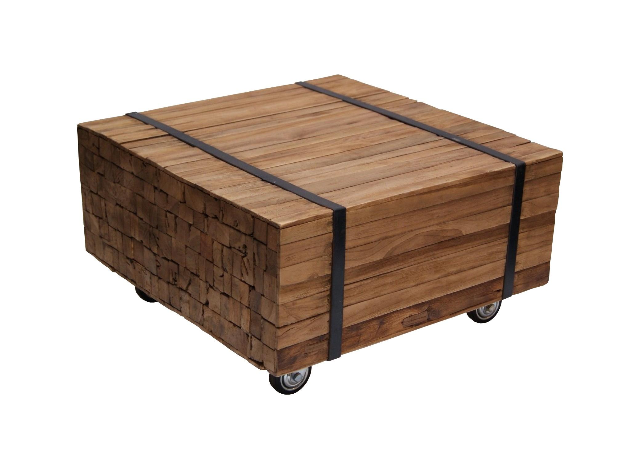 Teak Planken Couchtisch Toulouse 60x60 LF029