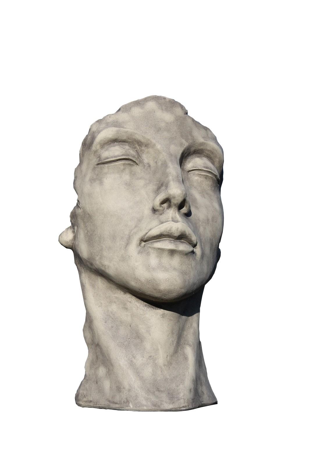 Skulptur Gesicht Frau klein Steinguss