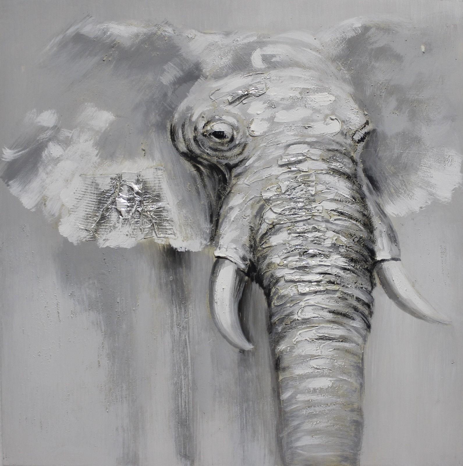 Original Ölgemälde Elefant