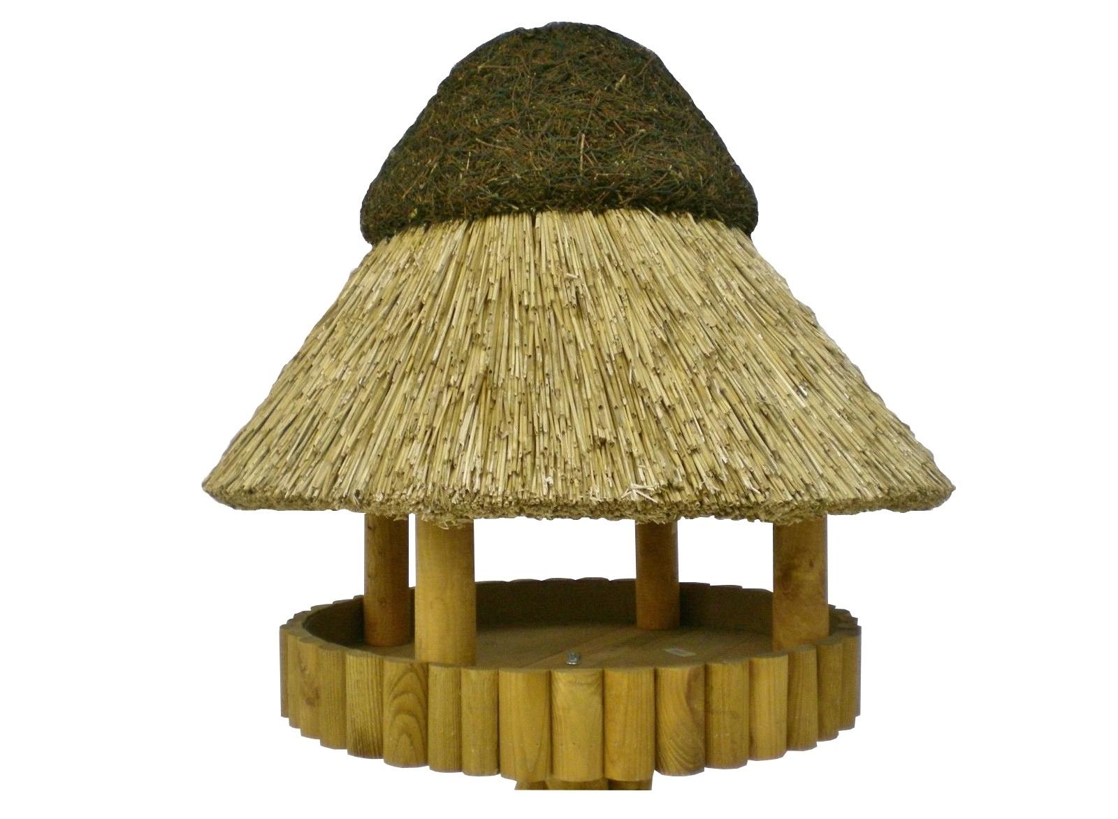 Masuren 60 Kiefer ohne Ständer Reetdach Vogelhaus