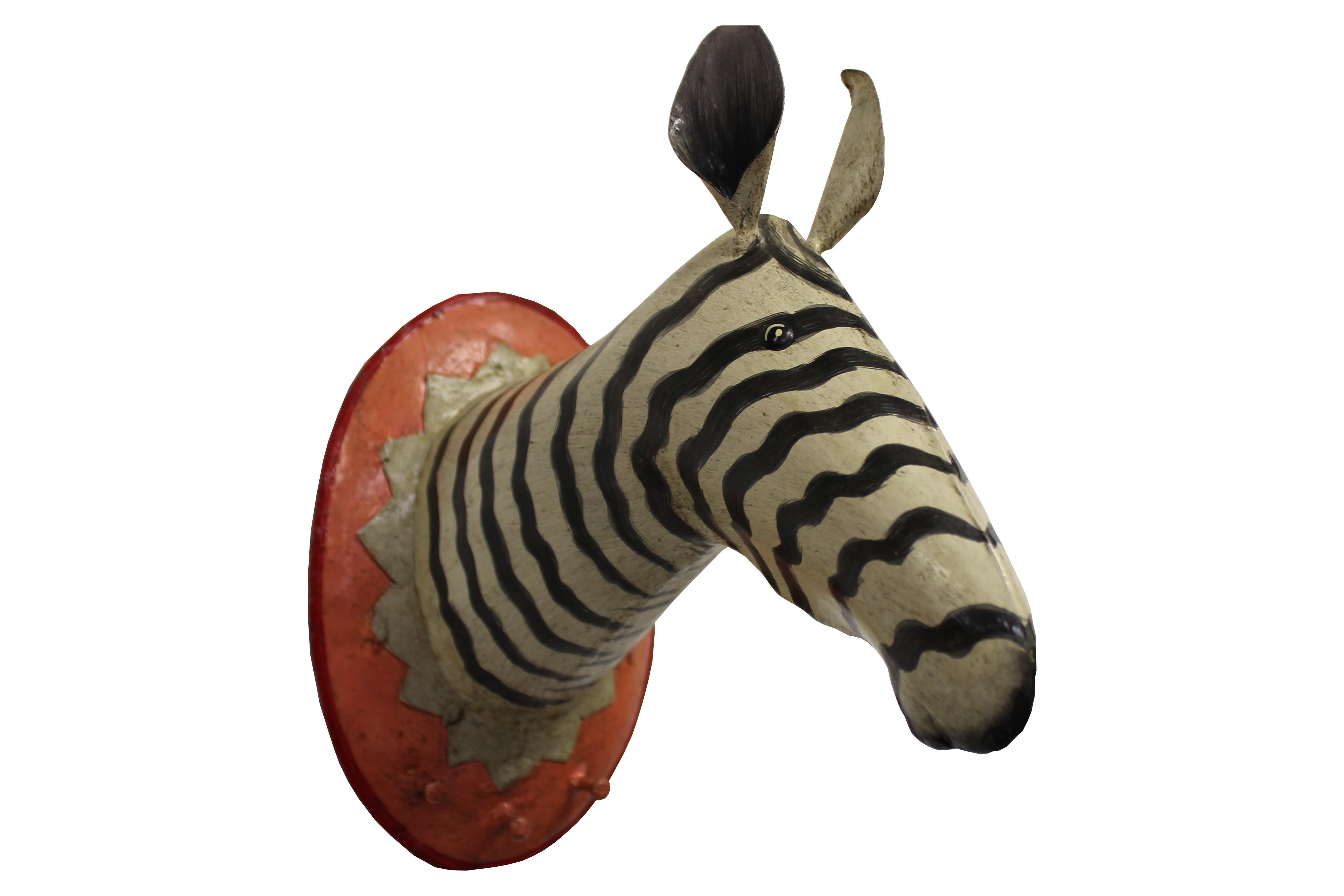 Garderobenhaken Trophäe Zebra