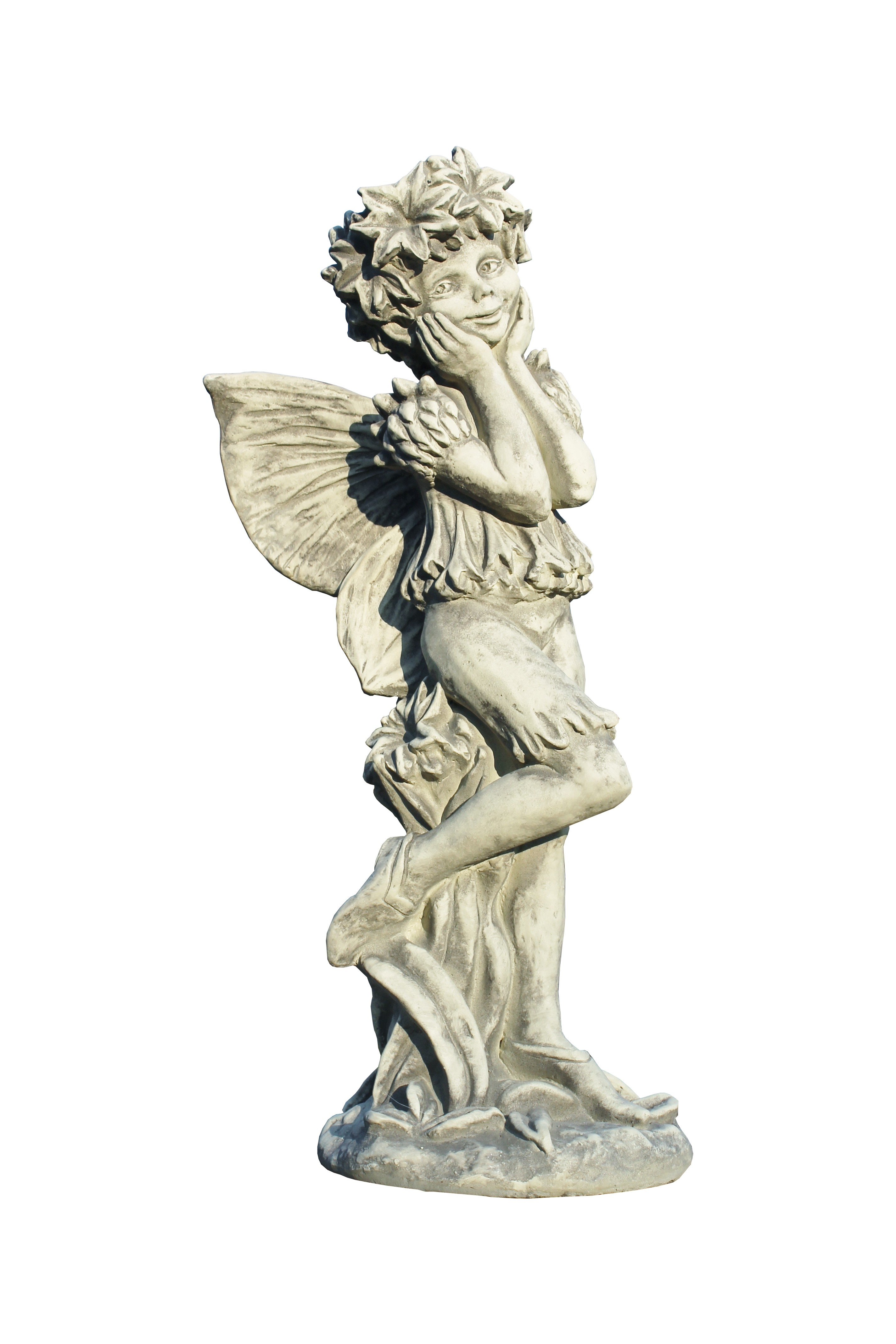 Skulptur Elfe Kornblume