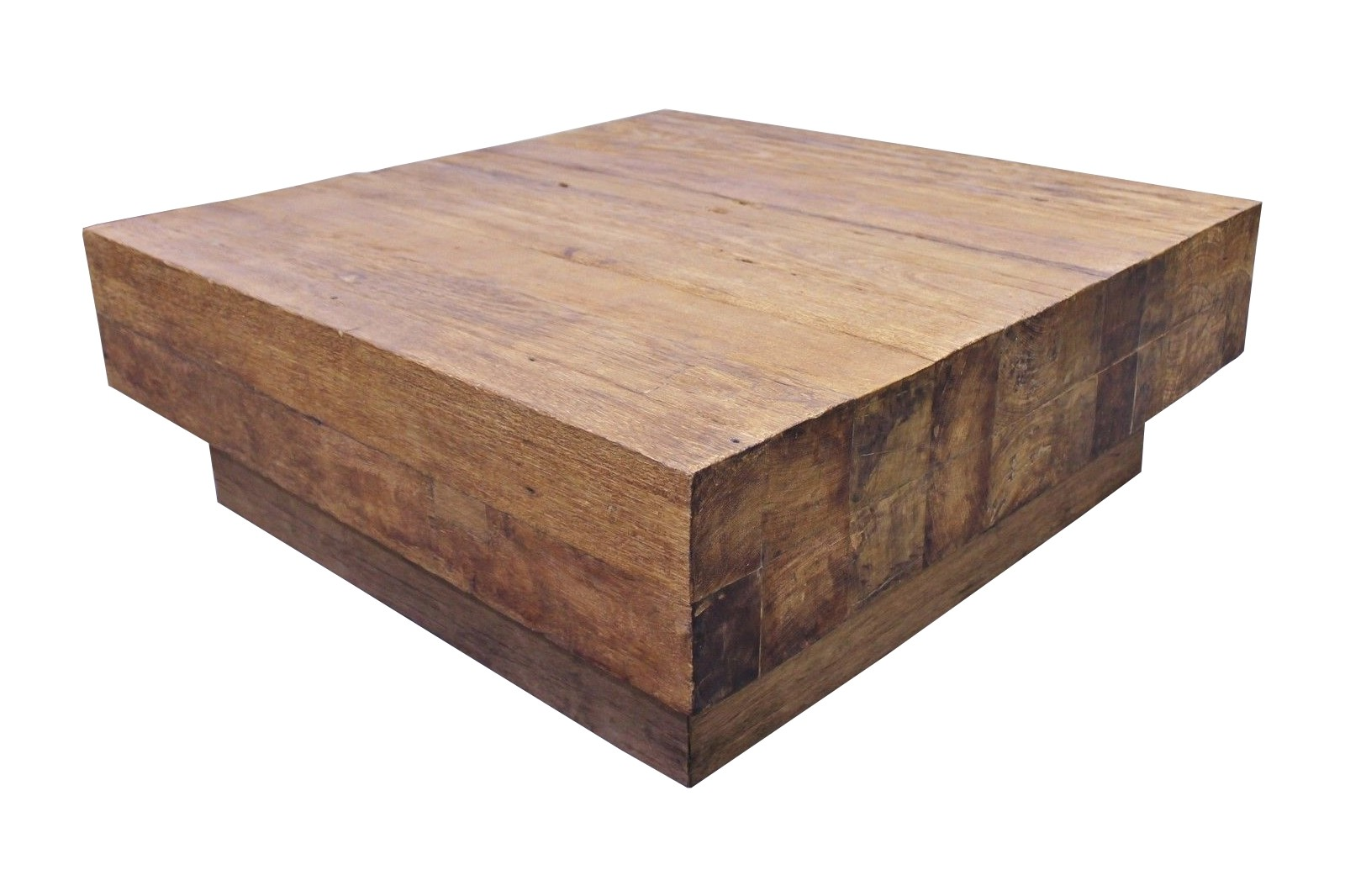 """Teak Block Couchtisch """"Diego"""" Se12-3 75-120cm"""