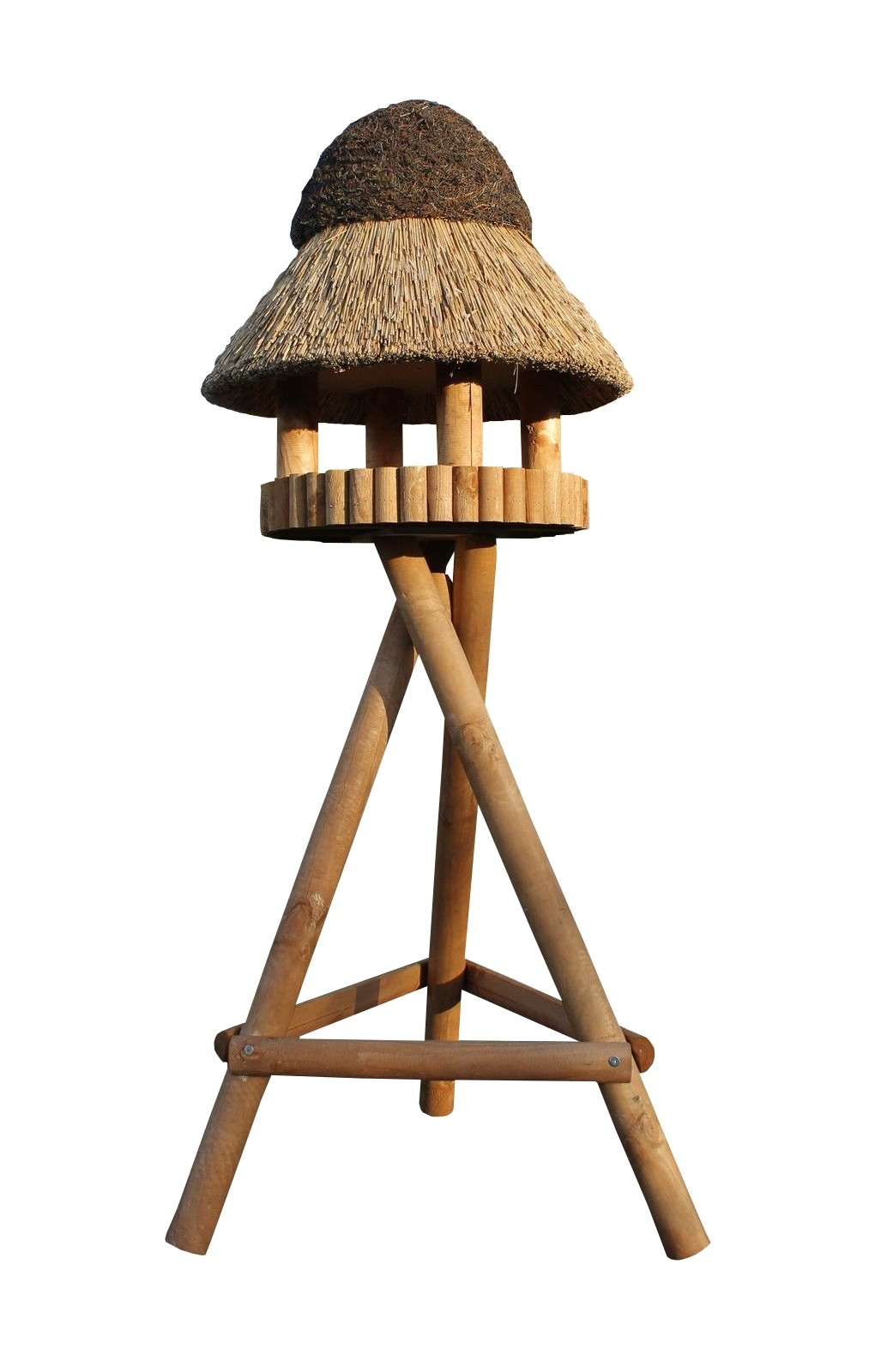 Masuren 50 Kiefer mit Ständer Reetdach Vogelhaus