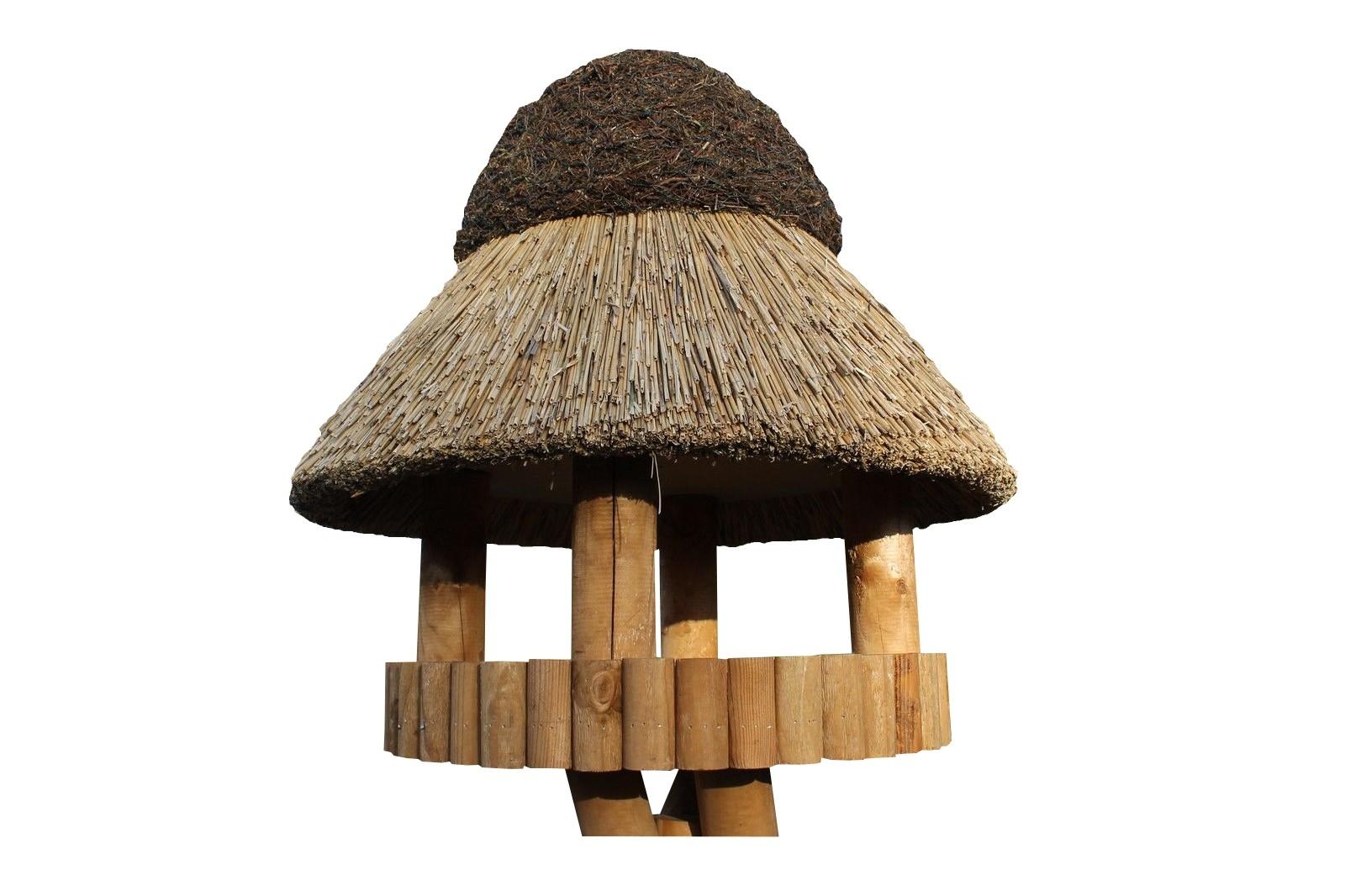 Masuren 50 Kiefer ohne Ständer Reetdach Vogelhaus