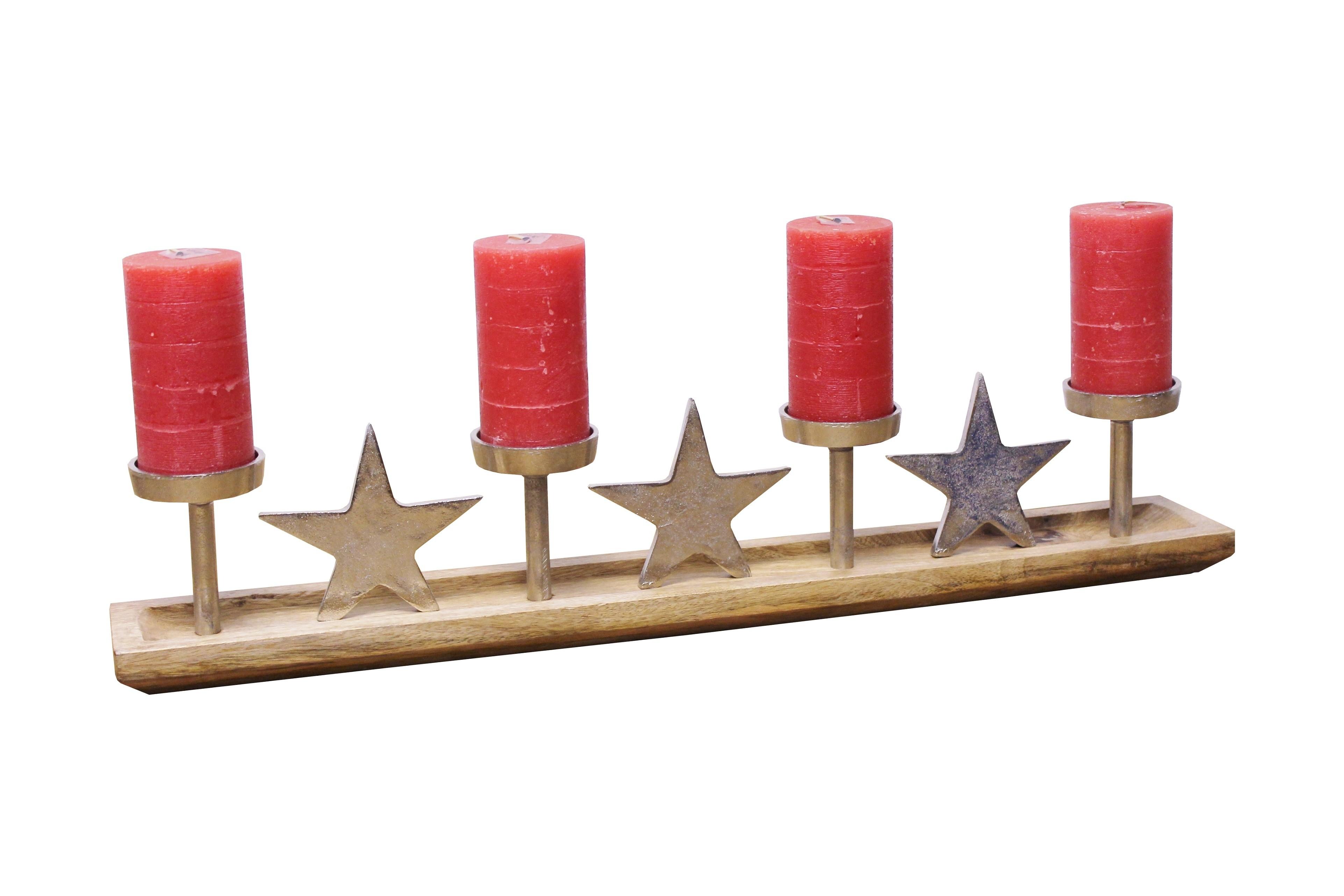 Advent Kerzenleuchter Stern