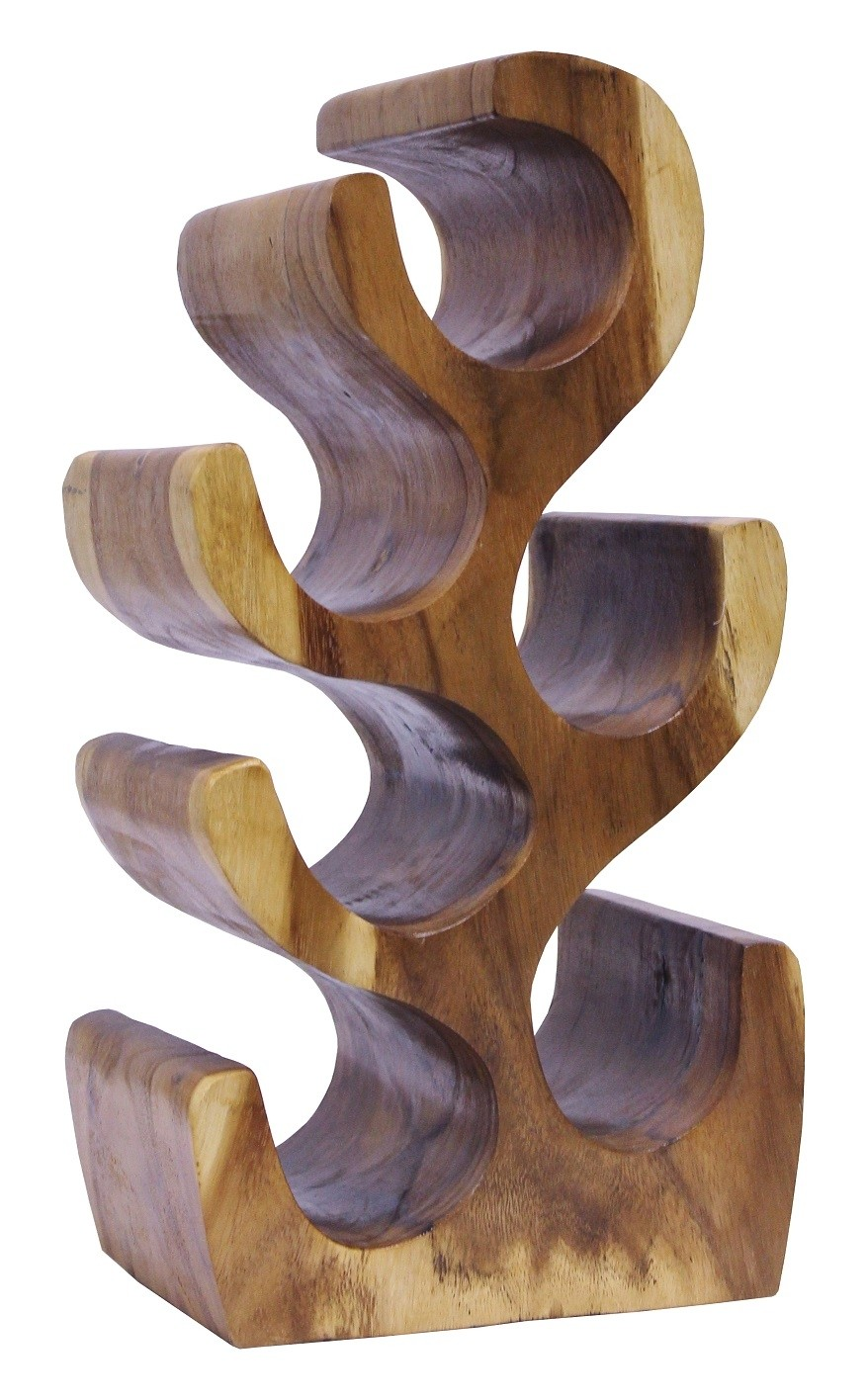 Weinregal Suar Unikat No.8 H50cm Massivholz Kaktusform