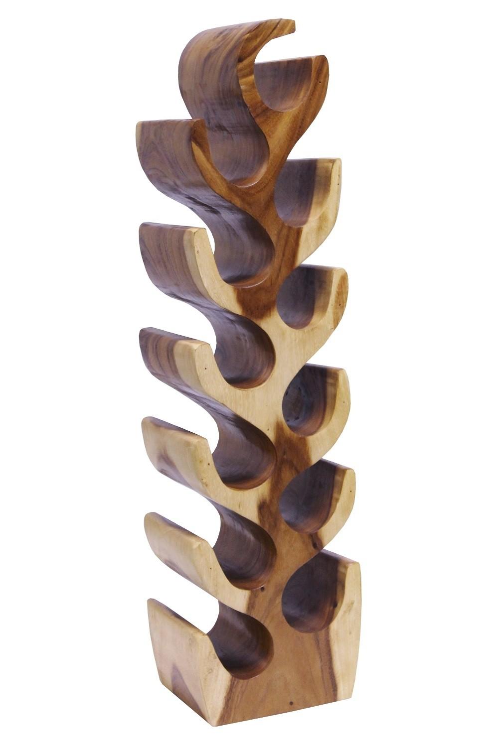 Weinregal Suar Unikat No.13 H100cm Massivholz Kaktusform
