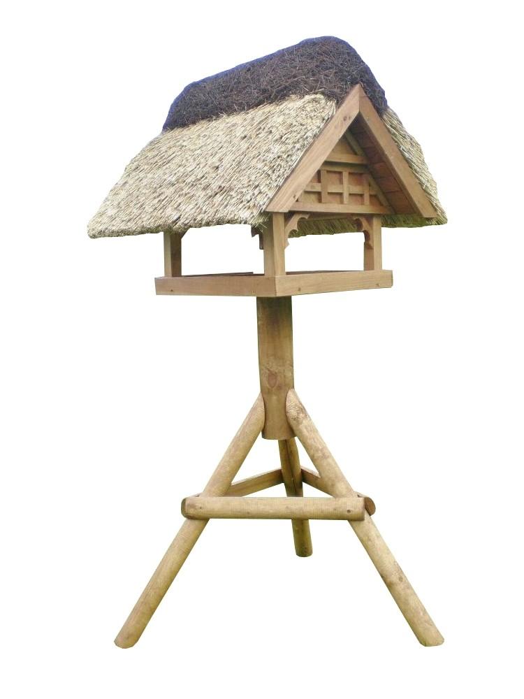 Danzig Kiefer mit Ständer Reetdach Vogelhaus