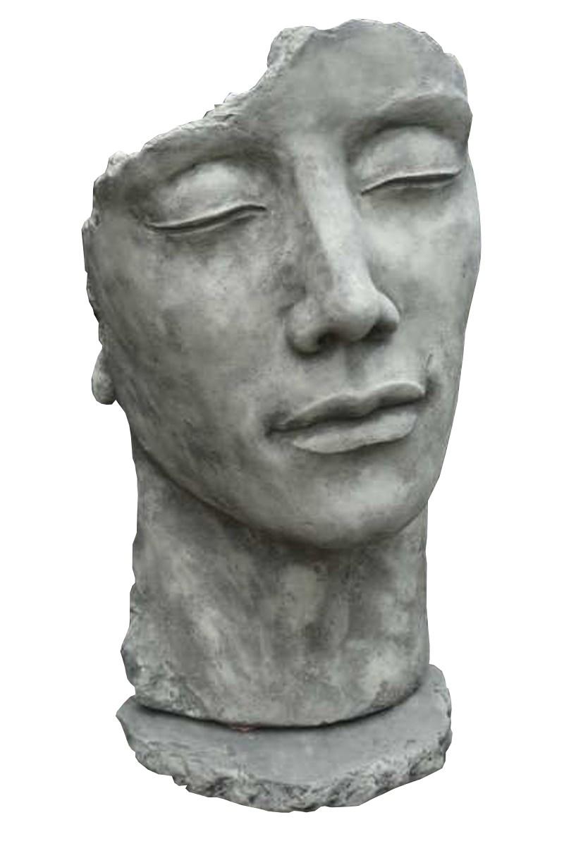 Skulptur Gesicht Mann Steinguss