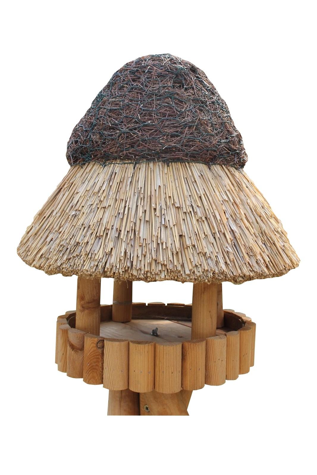 Pillau Kiefer ohne Ständer Reetdach Vogelhaus