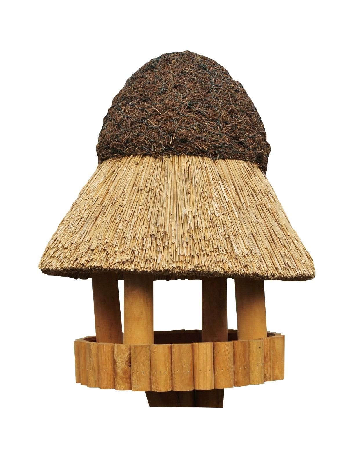 Masuren 40 Kiefer ohne Ständer Reetdach Vogelhaus
