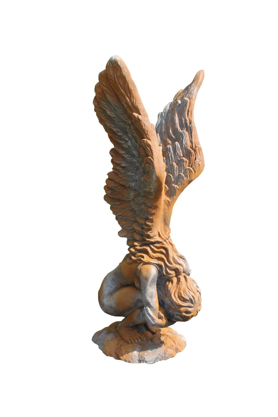 Skulptur Engel Rachel ROSTEFFEKT 114 cm