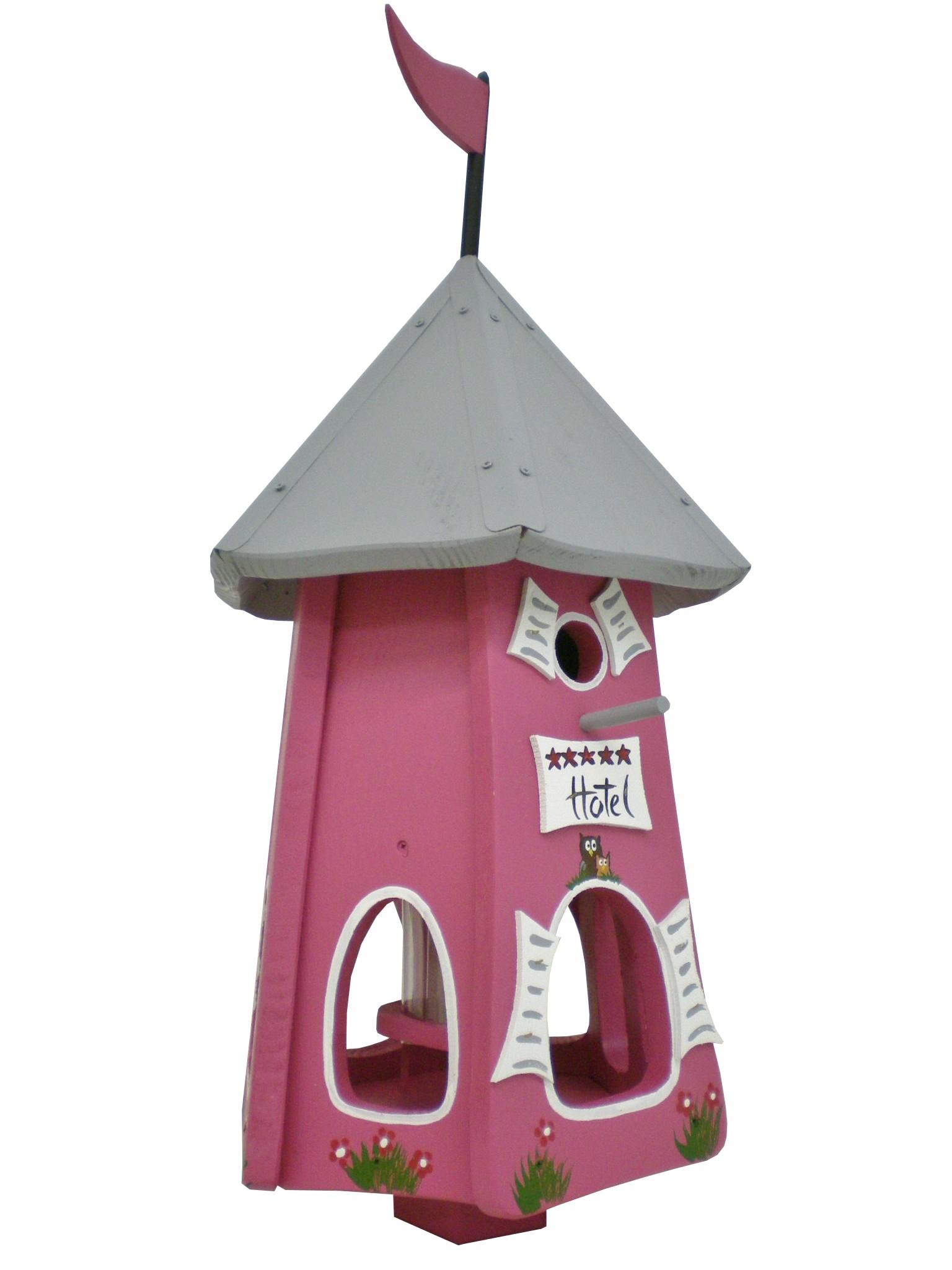Turmhotel 5 Sterne Eulen Himbeer von Die Vogelvilla