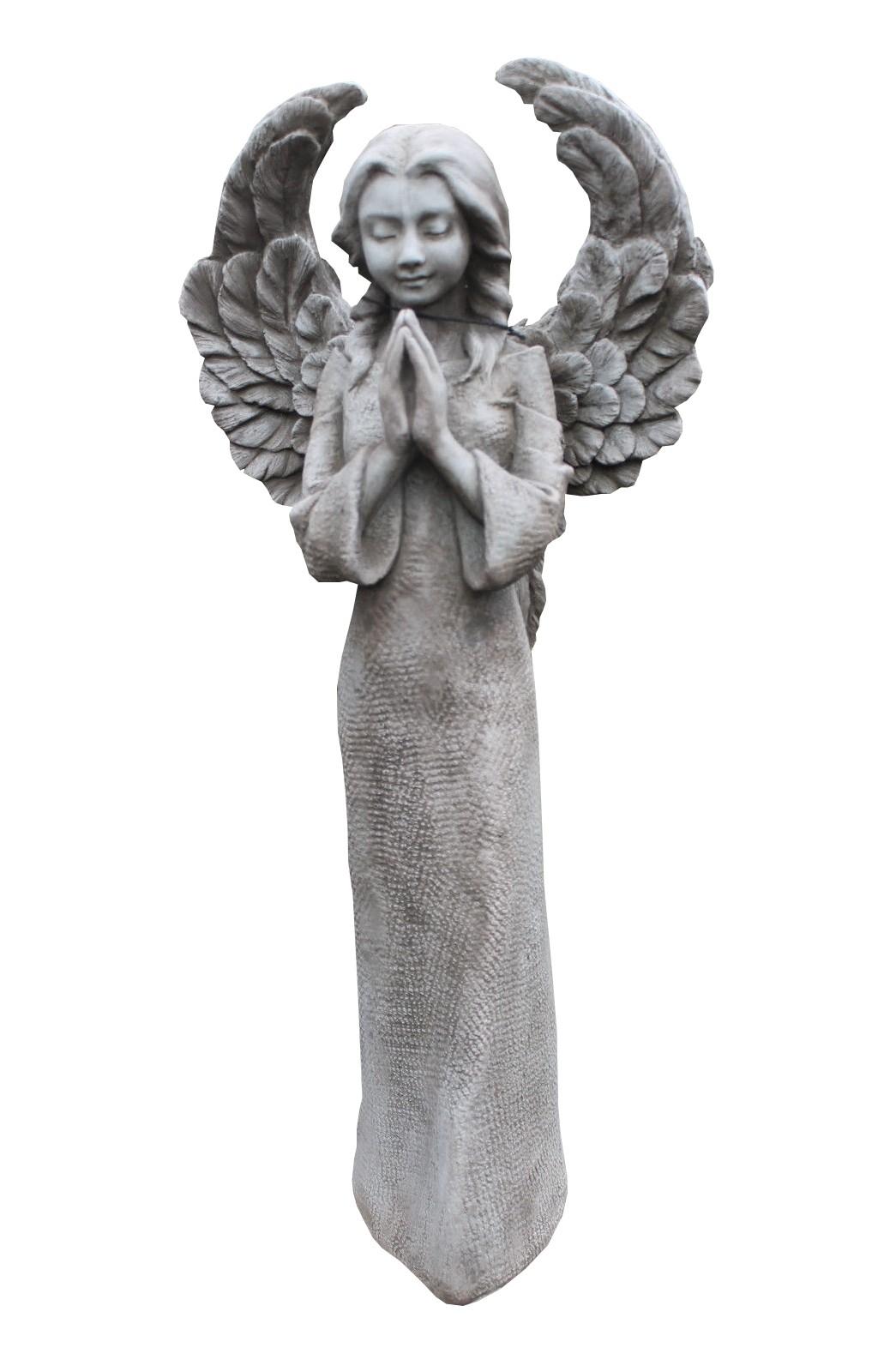 Skulptur Engel betend Steinguss