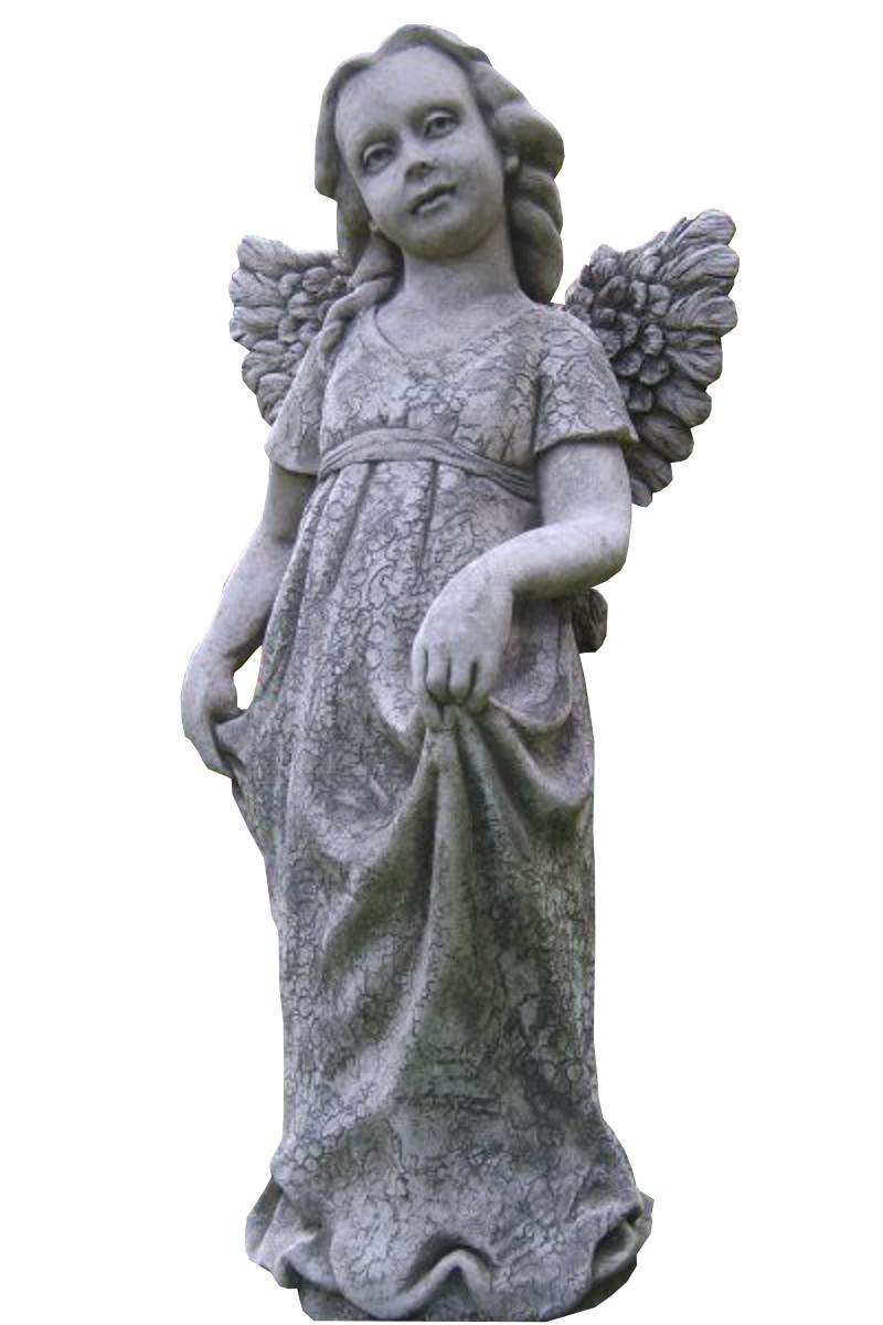 Skulptur Engel Grace Steinguss