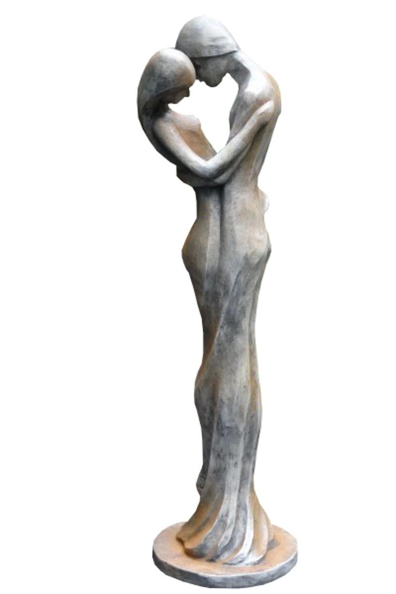 Skulptur Liebespaar Tristan und Isolde Rosteffekt