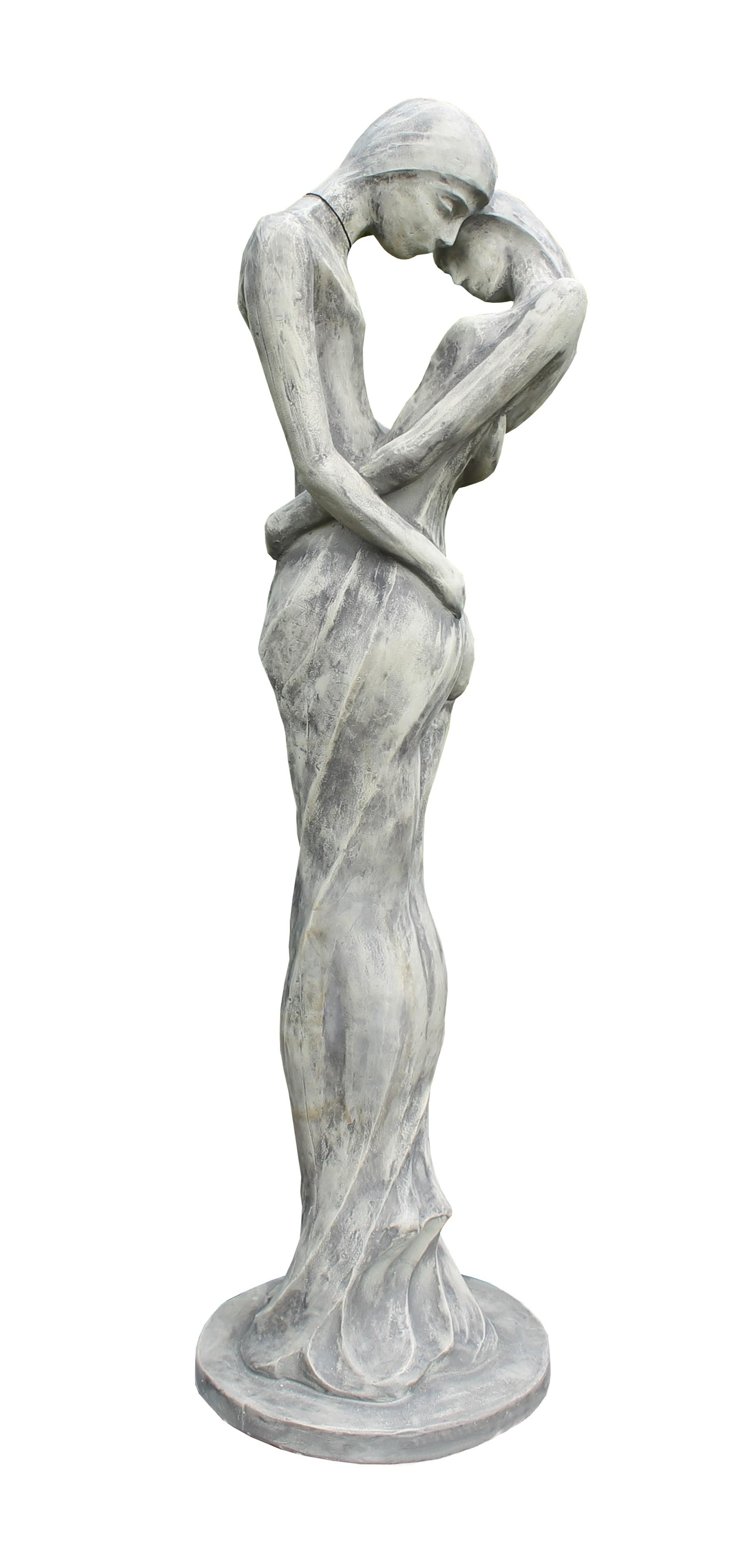 Skulptur Liebespaar Tristan und Isolde Steinguss