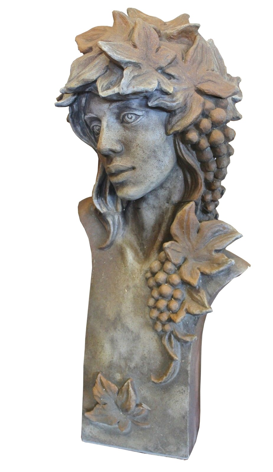 Skulptur Büste Art Deco Herbstmädchen Rosteffekt