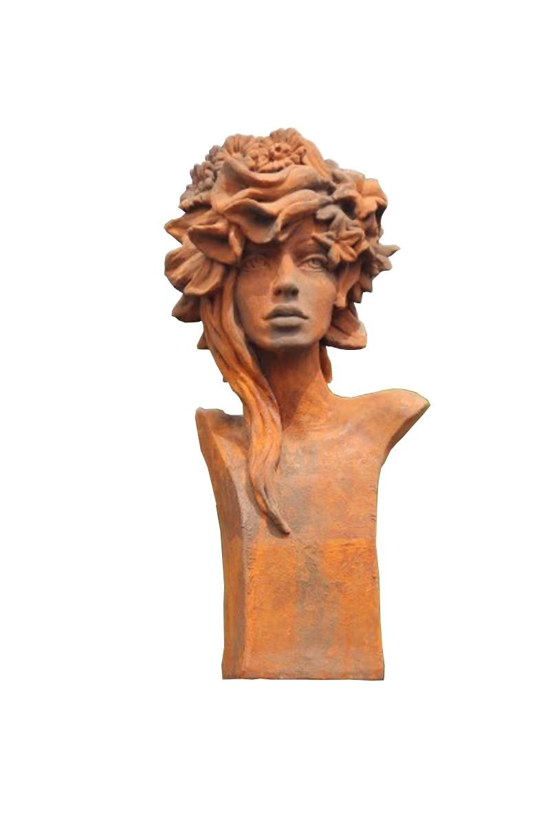 """Skulptur Büste Sommer """"Rosi"""" Rosenmädchen OXID"""