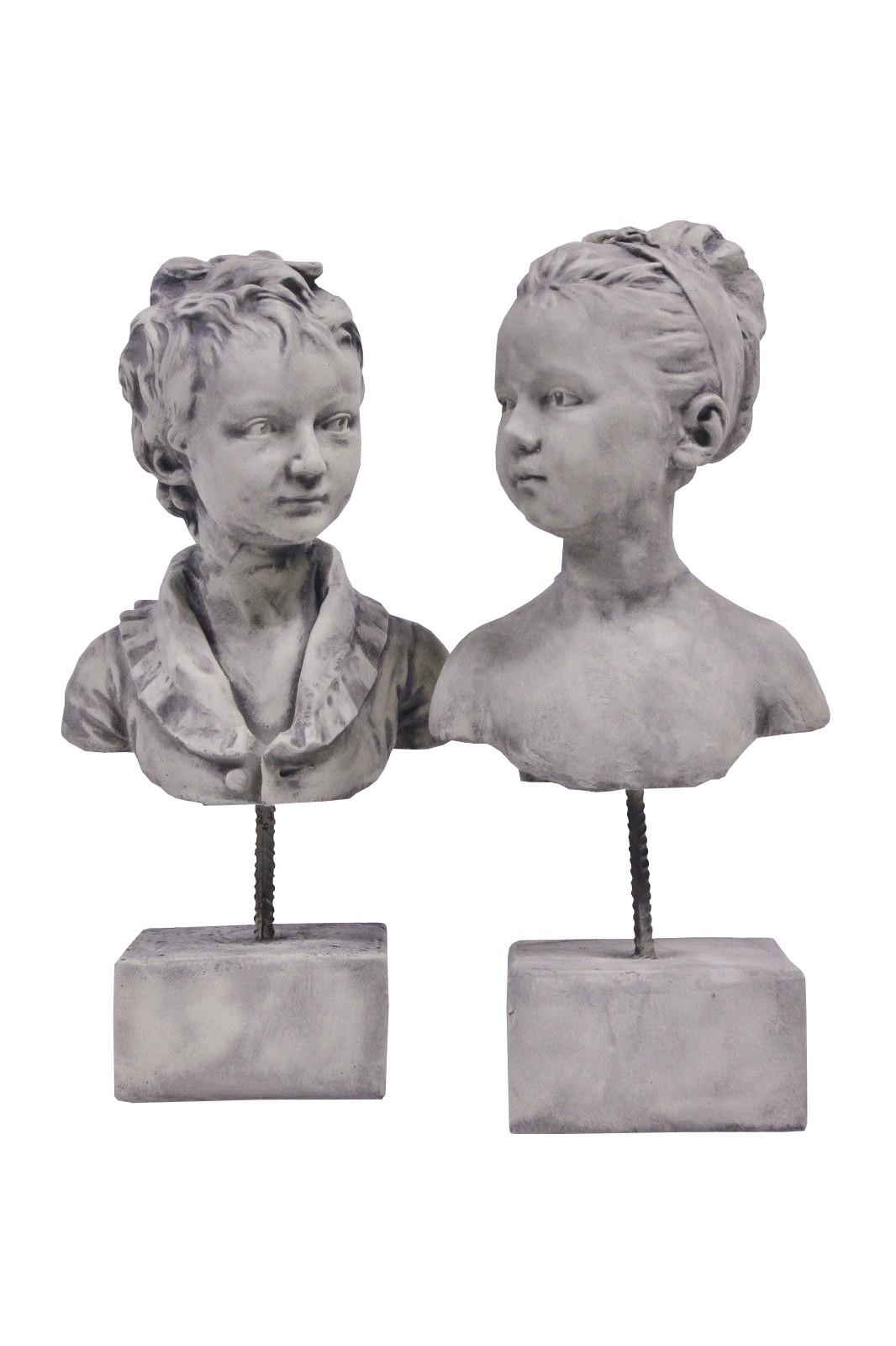 Skulptur SET Junge und Mädchen Tarek Katharina
