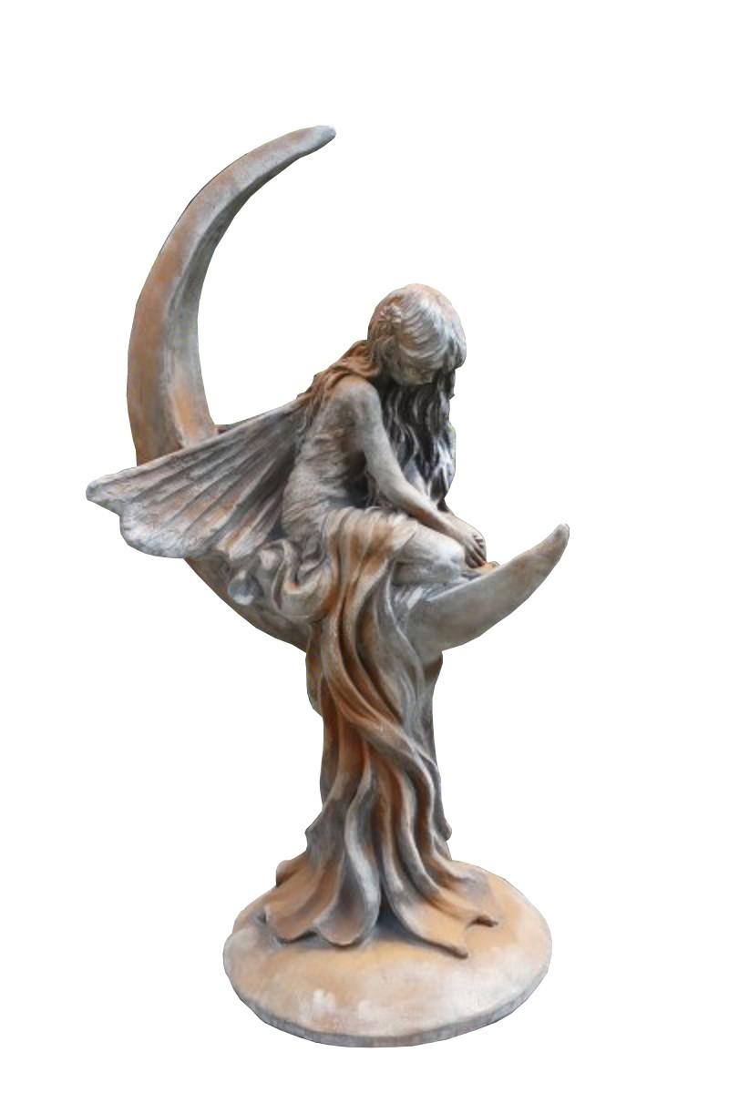 Skulptur Mondfee Lunaria Rosteffekt
