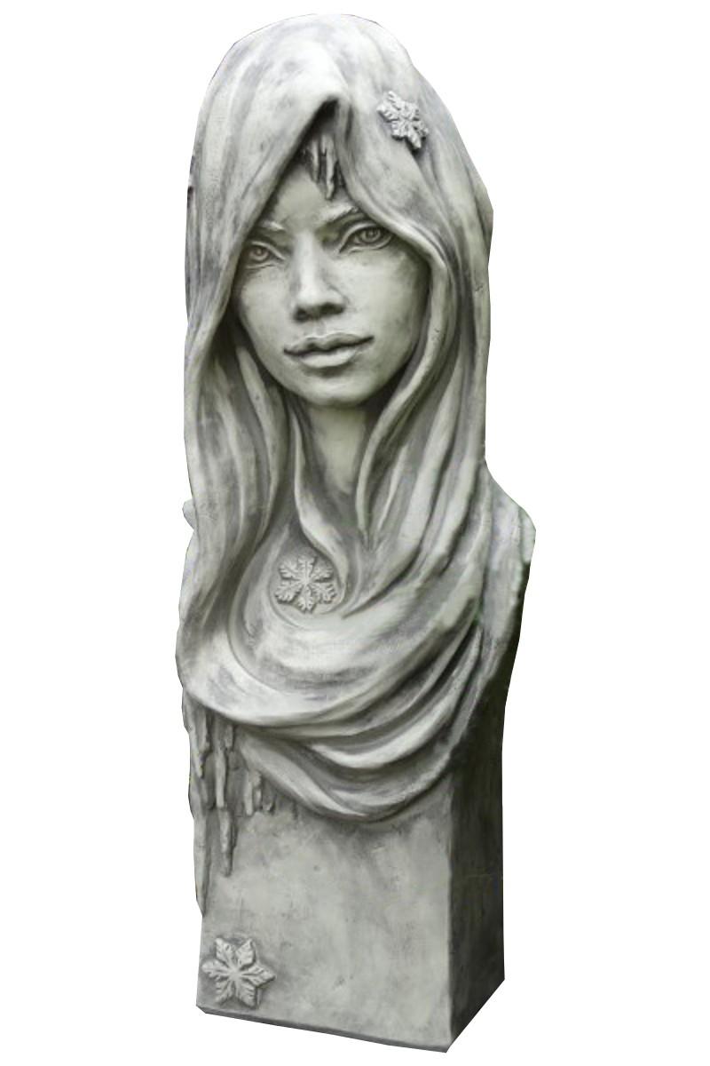 Skulptur Büste Winter Steinguss