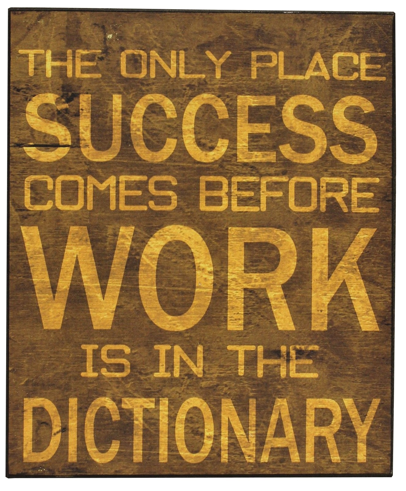 "Vintage Spruch Tafel ""Success Before Work"" Deko Spruchschild Bild 25x30"