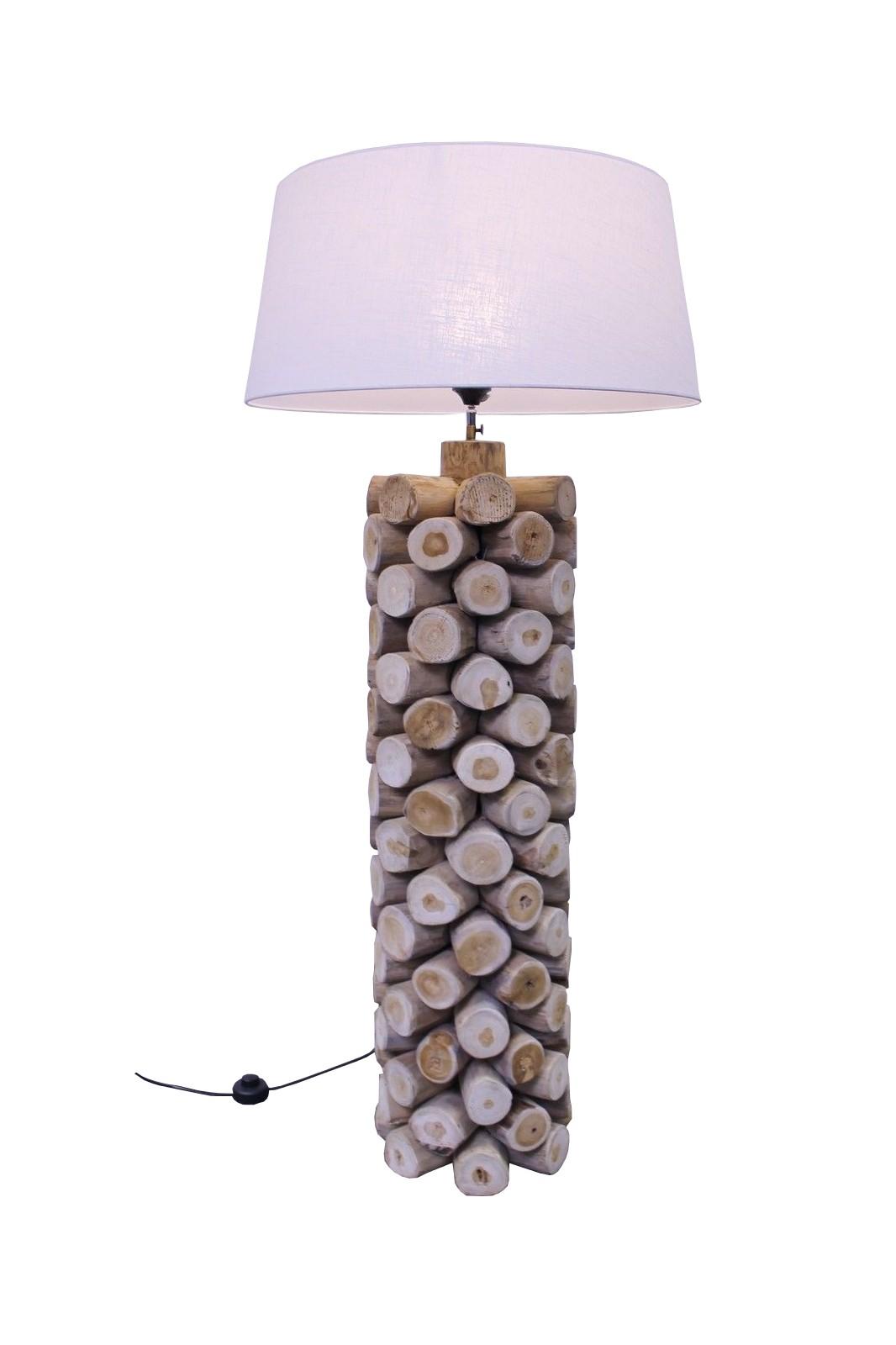 Teak Standlampe Driftwood