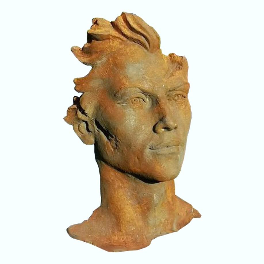 Skulptur Gesicht Mann 2 Oxid
