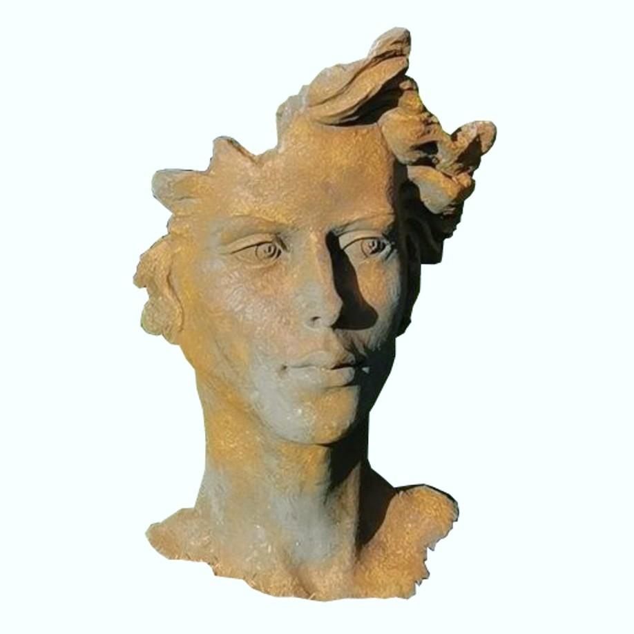 Skulptur Gesicht Frau 2 Oxid