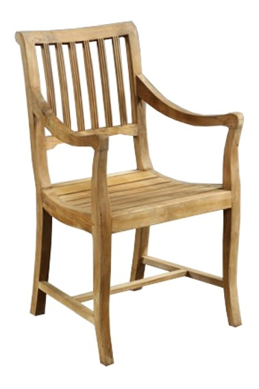 Teak Stuhl mit Armlehnen SE25-2