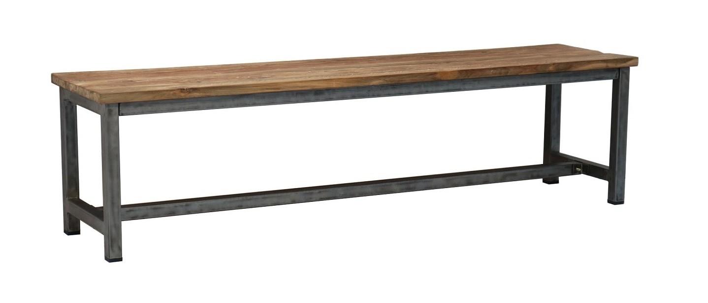 Teak Stahl Bank Sema 160 - 200 cm