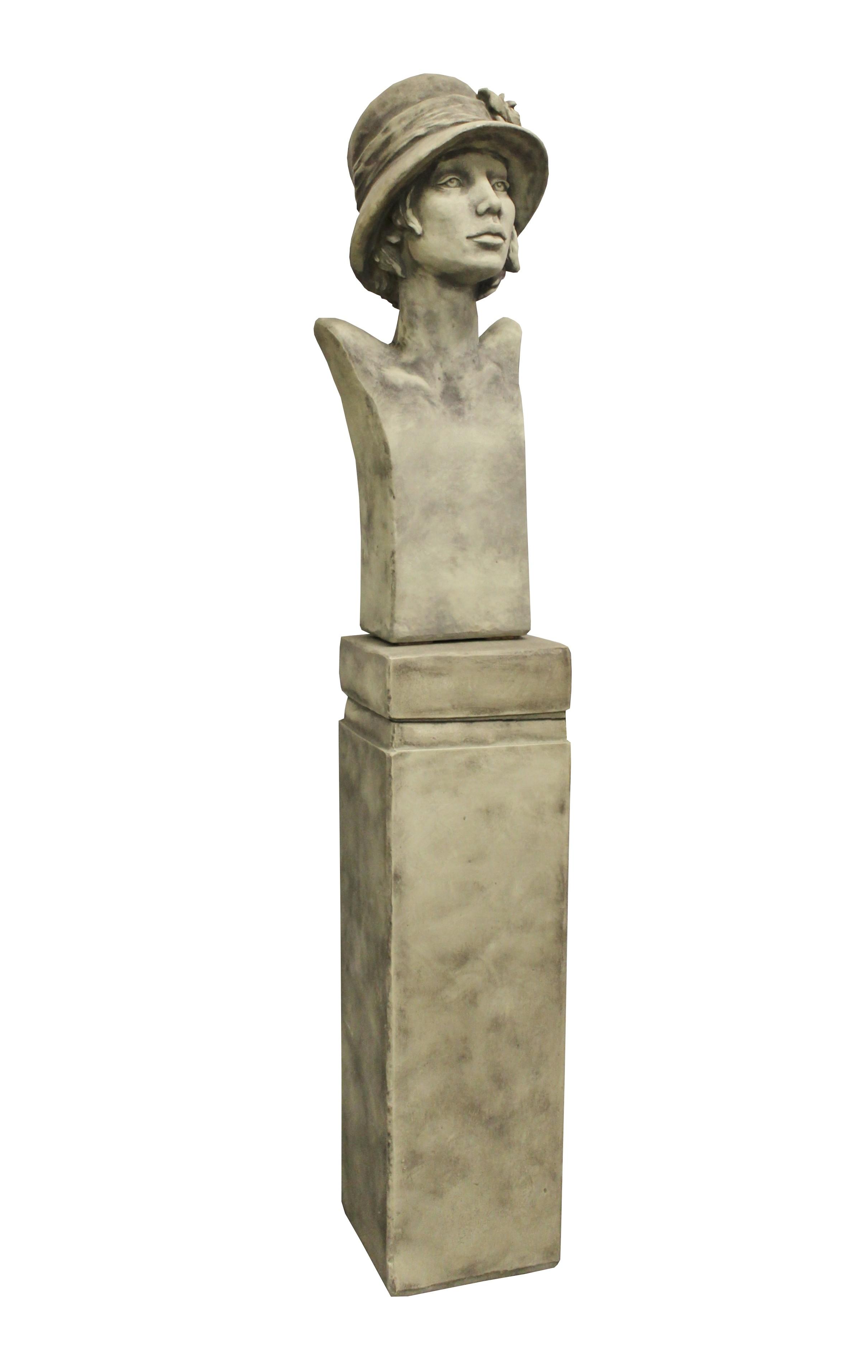 Skulptur SET Büste Art Deco Sisala + Sockel