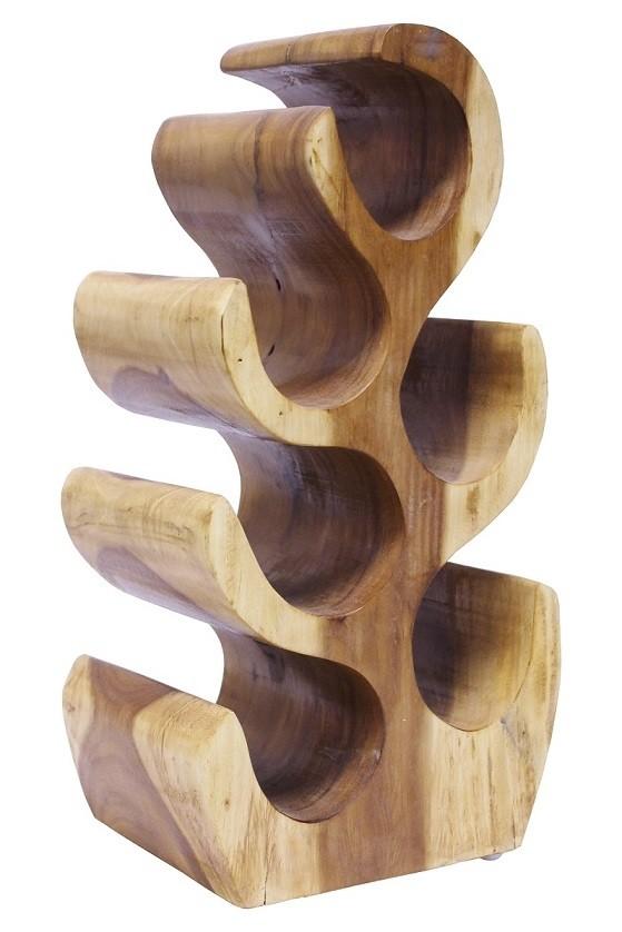Weinregal Suar Unikat No.3 H50cm Massivholz Kaktusform