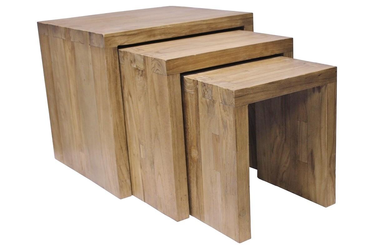 Teak 3-Satz Tisch SE18-1