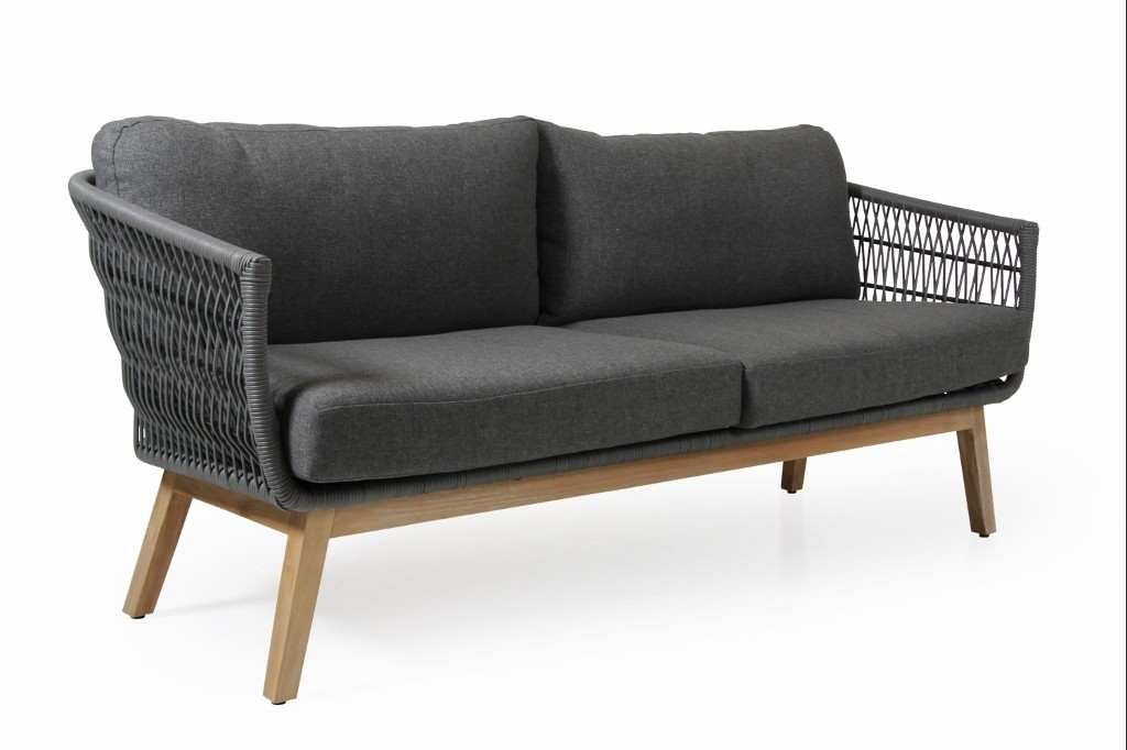 Brafab Teak Garten Loungesofa 3 Sitzer Kenton