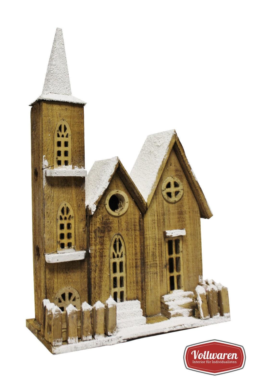 Deko Weihnachtskirche mit Beleuchtung