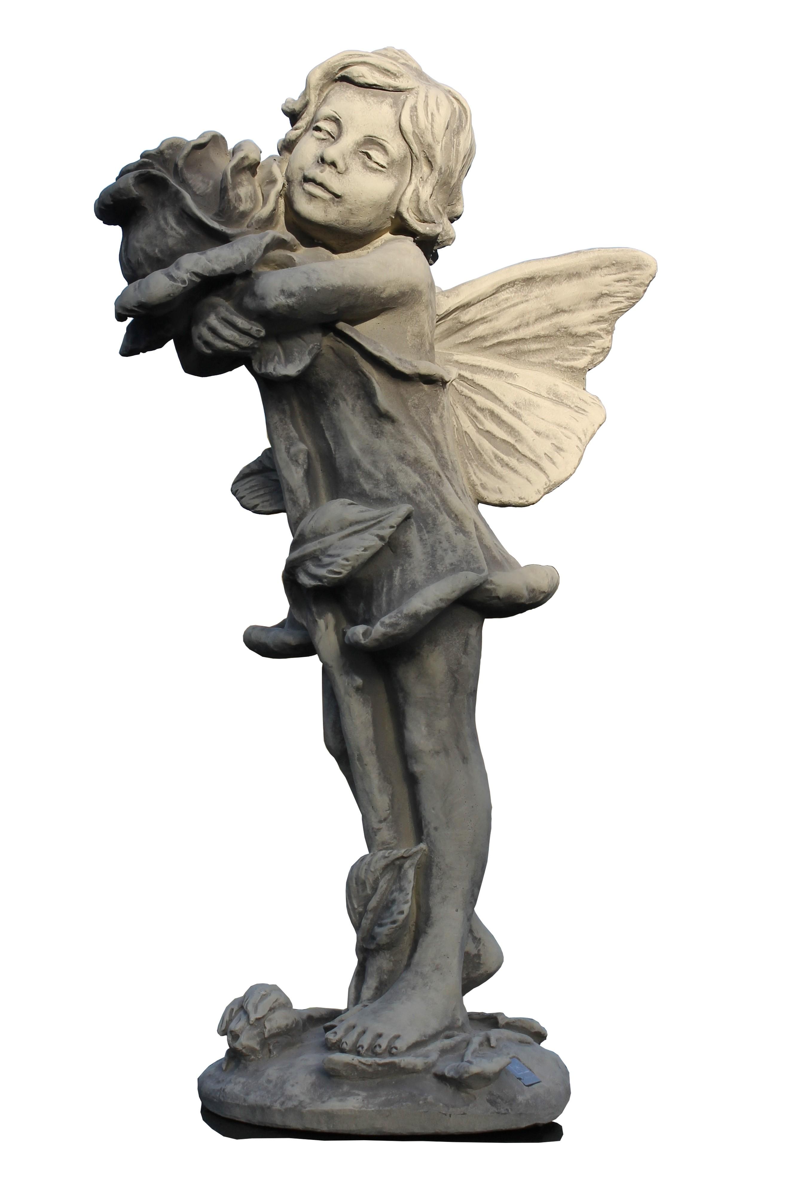 Skulptur Elfe Rose Flower Fairy