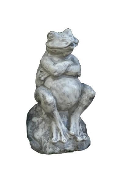 Skulptur Frosch Wasserspeier Steinguss 50cm 26 Kg