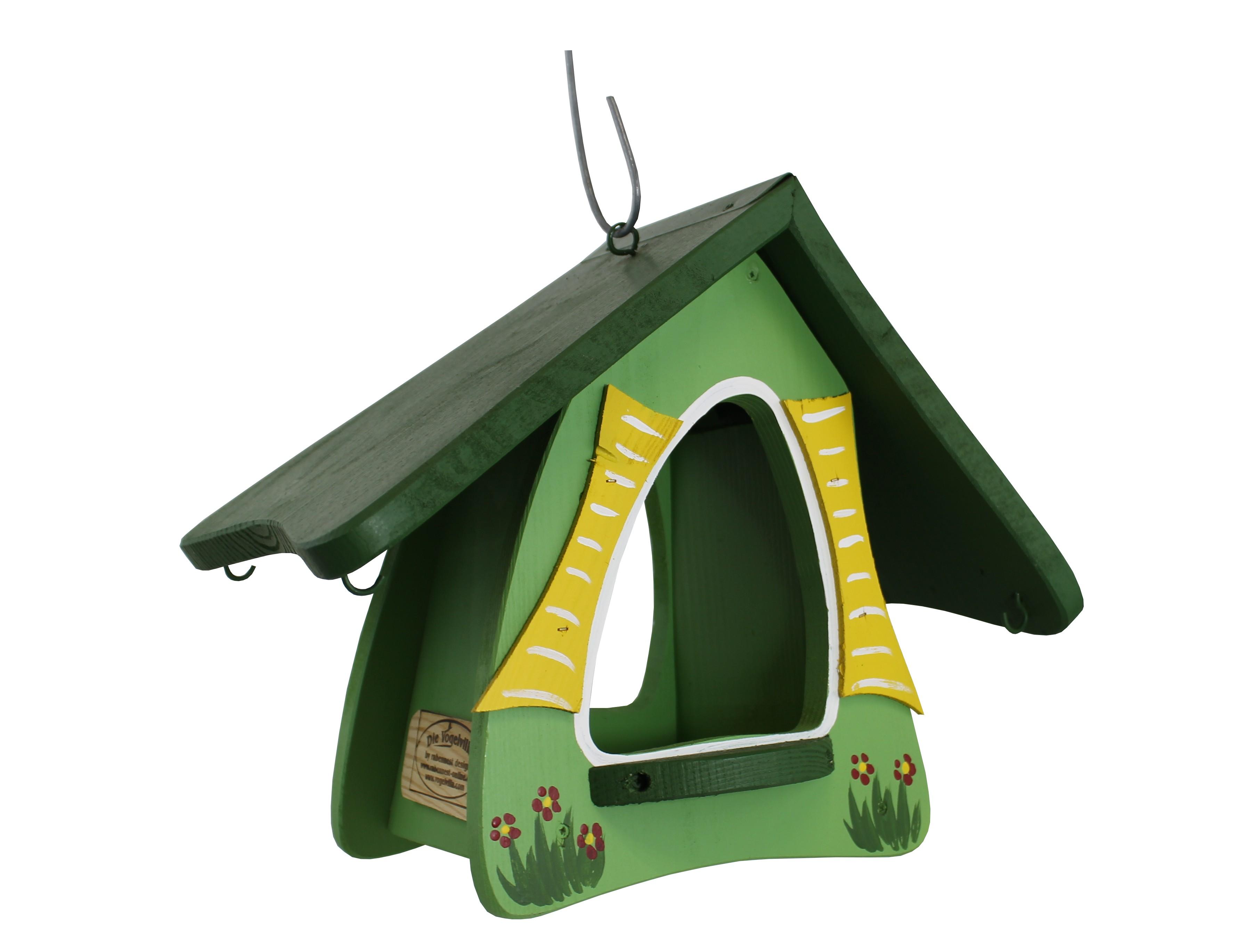 Futterhobbit hängend grün von Die Vogelvilla